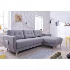 canap d angle bois et chiffon canapé d angle 4 places scandinave convertible gris clair salon