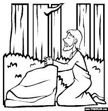 The Garden Of Gethsemane Coloring Page