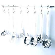 ustensile cuisine inox barre pour ustensile avec crochet ustensiles cuisine inox tringle de