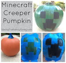 Minecraft Pumpkin Carving Ideas by Diy Minecraft Creeper Pumpkin Saving The Family Money