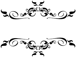 Black Swirl Border Clip Art At Clker