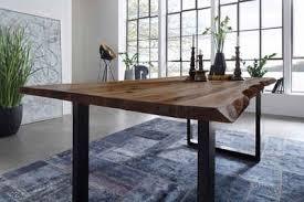sam baumkantentisch mephisto akazie massivholz nussbaumfarben 26mm natürliche baumkante