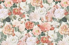 fototapete vintage blumen rosa rot