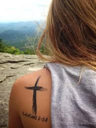 Artistic Cross 99 Bible Verse Tattoos