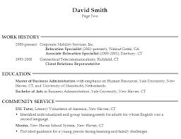 Sample Human Resource Administration Resume