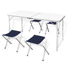 Amazon.com: Aluminum Folding Table Adjustable Height ... Fold Up Camping Table And Seats Lennov 4ft 12m Folding Rectangular Outdoor Pnic Super Tough With 4 Chairs 120 X 60 70 Cm Blue Metal Stock Photo Edit Camping Table Light Togotbietthuhiduongco Great Camp Chair Foldable Kitchen Portable Grilling Stand Bbq Fniture Op3688 Livzing Multipurpose Adjustable Height High Booster Hot Item Alinum Collapsible Roll Up For Beach Hiking Travel And Fishing Amazoncom Portable Folding Camping Pnic Table Party Outdoor Garden
