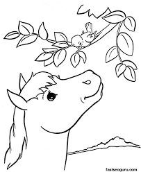 Coloring Pages Printable Free Animals 1 New Hd Template Images