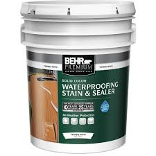 behr premium 5 gal white tint base solid color waterproofing