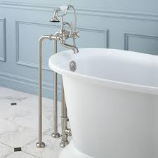 Delta Floor Mount Tub Faucet by Freestanding English Telephone Tub Faucet Supplies And Drain