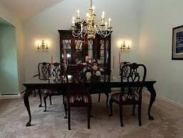 ethan allen dining room table set craigslist mahogany reviews