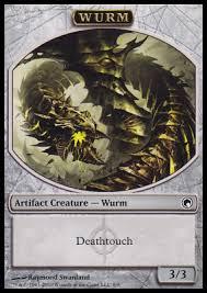 Mtg Lifelink Deathtouch Deck by Mtg Cards Scars Of Mirrodin Wurm Token Deathtouch