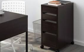 Ikea Micke Corner Desk by Black Brown Wheeled Drawer Unit Micke Ikea Finding Desk