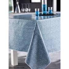 nappe en toile cirée ronde 140 cm saigon bleu paon achat vente