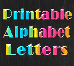 Printable alphabet letters templates & stencils that e with