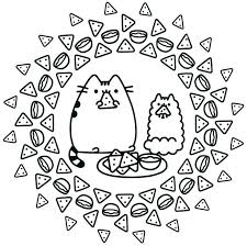 Pusheen Coloring Book Pages The Cat