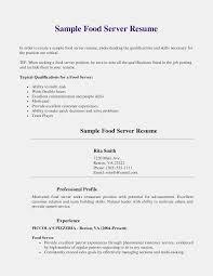 Restaurant Waiter Resume Sample Unique Server Resume Skills Examples