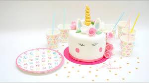 gâteau licorne en pâte à sucre scrapcooking
