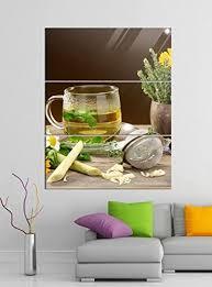 de acrylglasbilder 3 teilig 100x120cm kräutertee