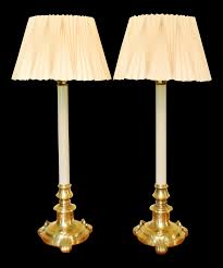 Stiffel Floor Lamp Vintage by Vintage Stiffel Candlestick Lamps And Shades A Pair Chairish