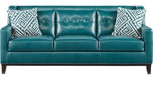 Reina Green Leather Sofa