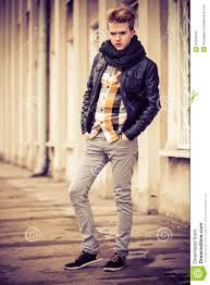 handsome fashionable man outdoor stock photo image 50400345