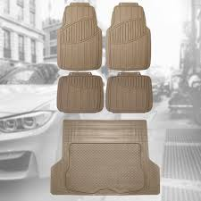 100 Rubber Truck Mats BESTFH Floor All Weather With Beige Trunk Mat For Auto