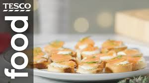 easiest canapes how to the easiest bagel canapés tesco food