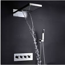 marina 25 wall mount color changing led waterfall rainfall shower