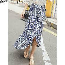 aliexpress com buy blue geometric tribal print tie waist wrap