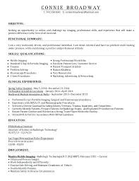 X Ray Technician Resume Sample Technologist Samples Examples Service Job
