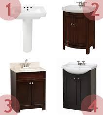 Pedestal Sink Storage Cabinet by Building A Bathroom Vanity Wars Pepper Design Blog