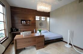 Contemporary Guest Bedroom Idea With A Dedicated Workstation Design Pure Style By Jerry Bussanmas