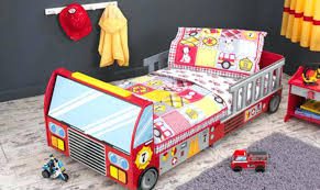 Fire Engine Bedding Set Rescue Heroes Fire Truck Police Car Toddler ...