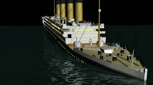 3d titanic sinking animation hd youtube
