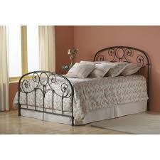 Wrought Iron Headboards King Size Beds by Grafton Iron Bed In Rusty Gold Humble Abode