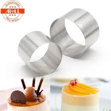 neue kleine mini runde kuchen mousse ring form form edelstahl backformen backform ring werkzeuge metall kuchen ring mode küche