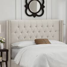Target Roma Tufted Wingback Bed by Wingback Headboard Bed Within Roma Tufted King Cream Dorel Living