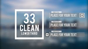 Adobe After Effects Text Animation Templates By 33 Clean Lower Third Free Template