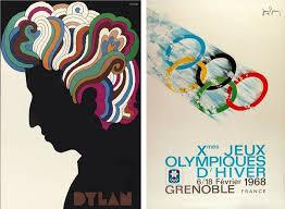 Left Poster For Musician Bob Dylan Designed By Milton Glaser 1967 Via
