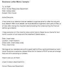 Business Letter Memo Sample