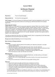 Cleaning Job Description For Resume Ideas House Rh Nickverstappen Com Janitorial Manager Sample Maint Samples