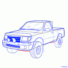 100 How To Draw A Truck Step By Step Pickup