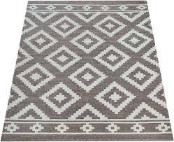 teppich mariba 095 paco home rechteckig höhe 9 mm kurzflor mit skandinavischem rauten design wohnzimmer kaufen otto