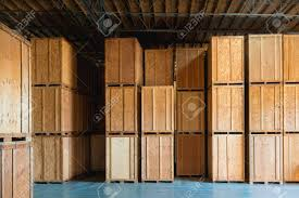 Large Wooden Crate Ready For Delivery And Shipping At The Warehouse Stock Photo