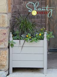 ana white square planters with finials diy projects