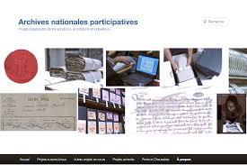 lancement du archives nationales participatives