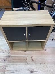 ikea kallax shelf black brown 2 fan 77x42 cm bookcase