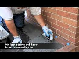 Thinset For Porcelain Tile On Concrete by Down To Earth Outdoor Tile Installation Youtube