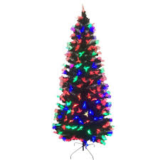 PARTY SOLUTIONS CHRISTMAS TREE 6 FT FIBER OPTIC 220 PRE LIT TIPS 225 LED LIGHTS DECORATION