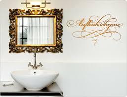 wandtattoo spruch aufhübschzone badezimmer wanddeko